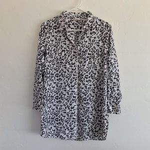 Victoria's Secret Leopard Button Down PJ Dress S
